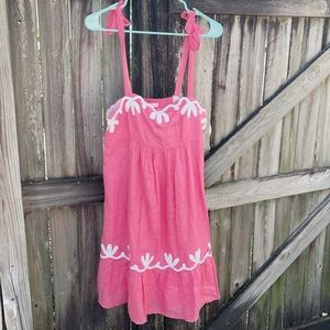 Lilly Pulitzer pink dress with shoulder tie size 6